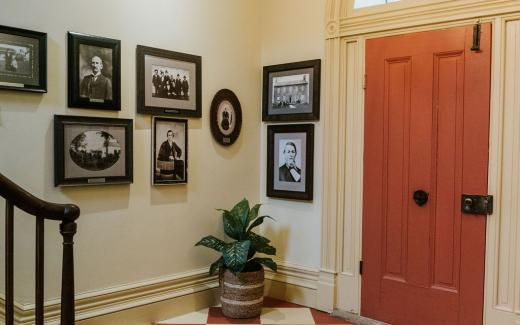 Foyer featuring notable property and James Gang history