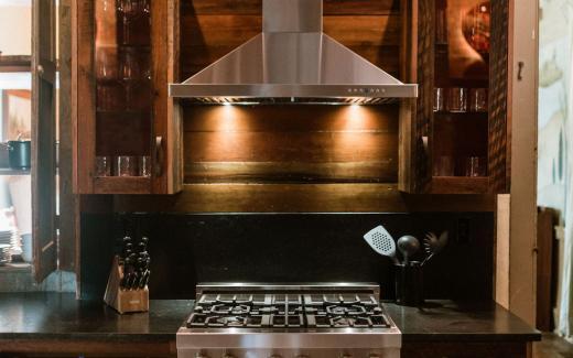 Modern chef's kitchen