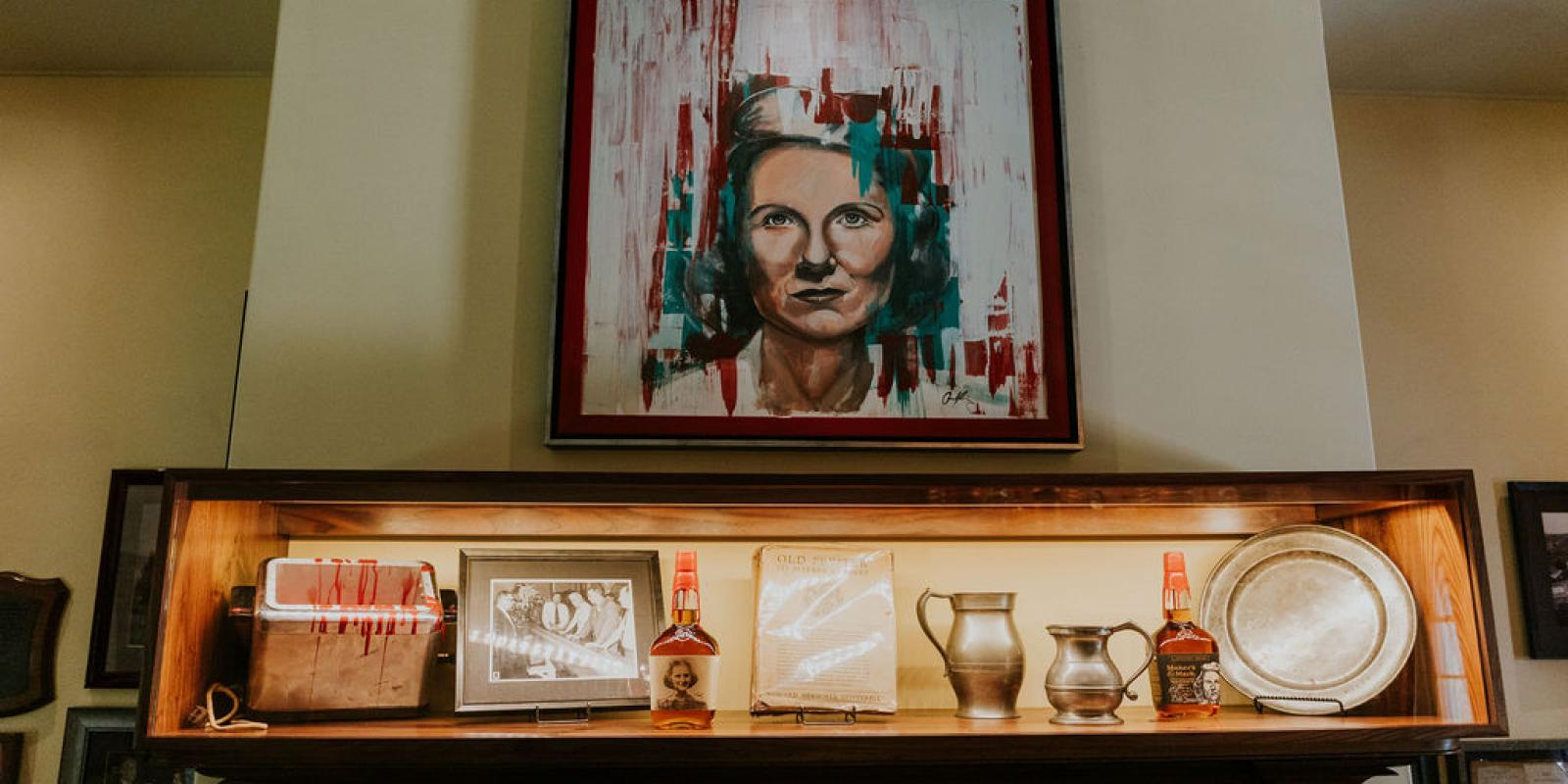 Whisky parlor adorned with family heirlooms