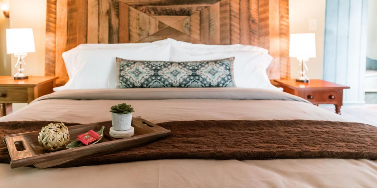 Three bedrooms adorned with luxurious linens and Tempur-Pedic mattresses