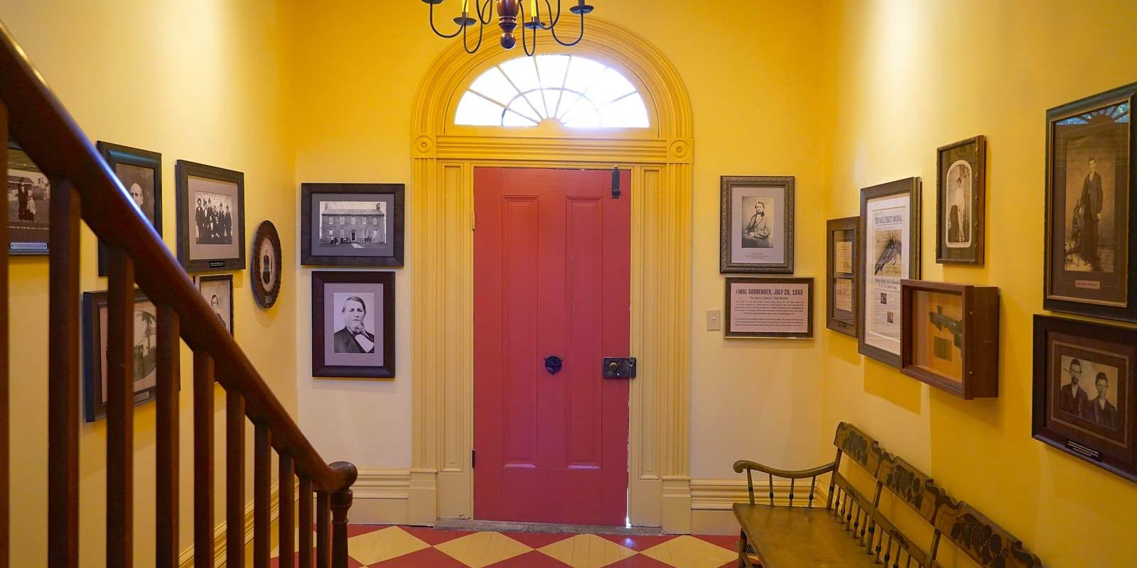 Foyer with wall of photos